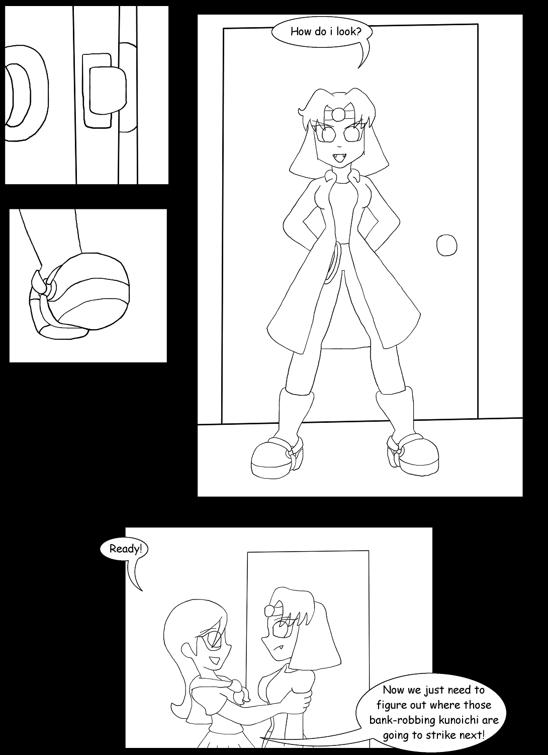V vs Kinky Kunoichi Part 8 Page 1